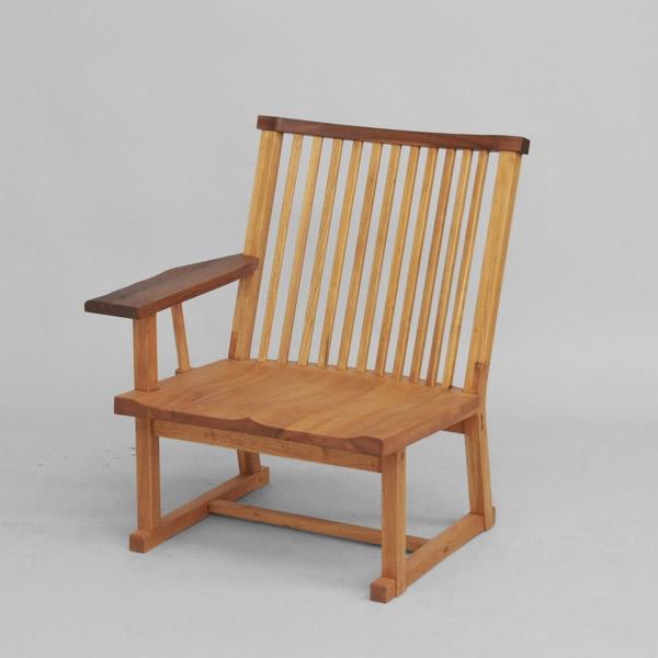 木格子 65 高座片袖椅子(右)